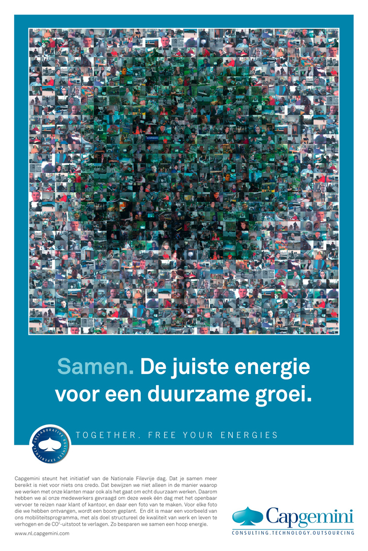 Advertentie Capgemini ten behoeve van Nationale Filevrije Dag.