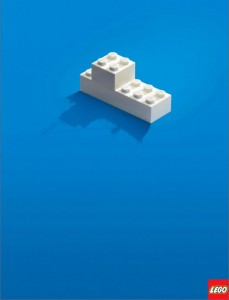 lego advertentie less is more