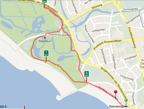 route personal training talent support op strand en park vlissingen zeeland runkeeper.jpg