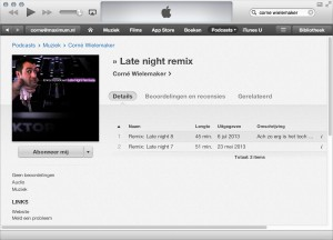 Late night remixes podcast iTunes store